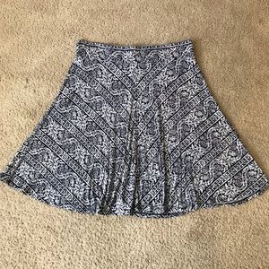Ann Taylor Loft Blue & White Skirt